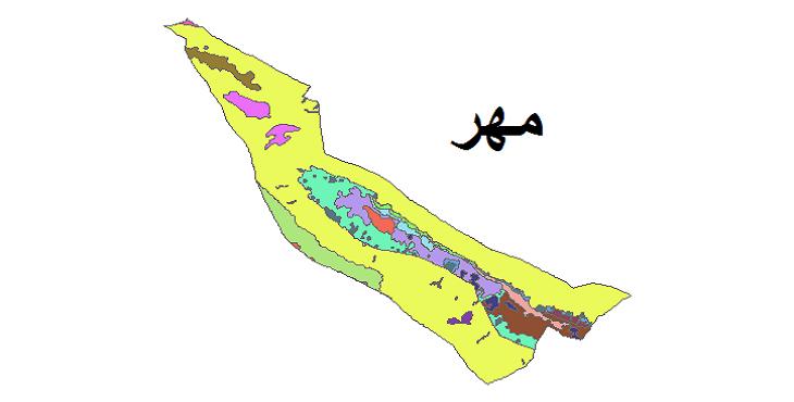 شیپ فایل کاربری اراضی شهرستان مهر