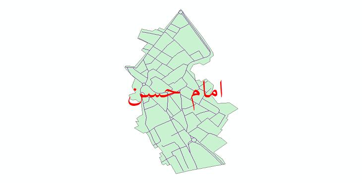 دانلود نقشه شیپ فایل شبکه معابر شهر امام حسن سال 1399