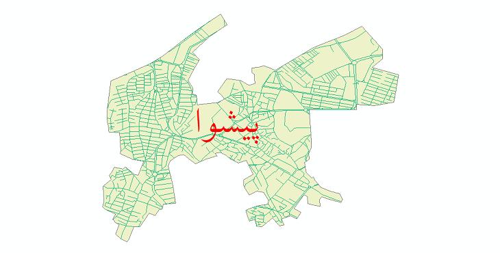 دانلود نقشه شیپ فایل شبکه معابر شهر پیشوا سال 1399
