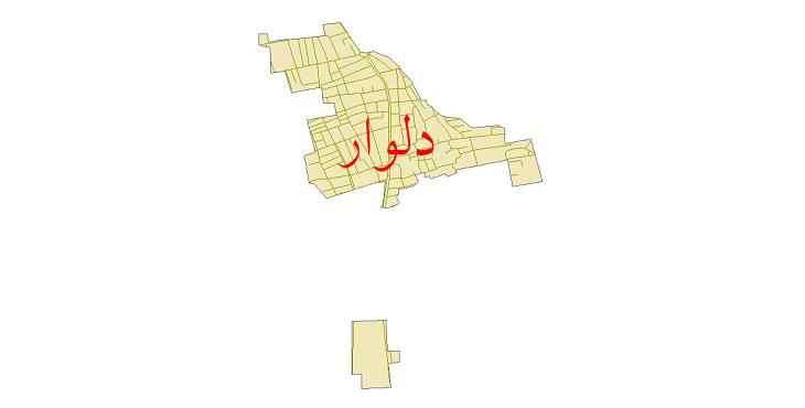 دانلود نقشه شیپ فایل شبکه معابر شهر دلوار سال 1399