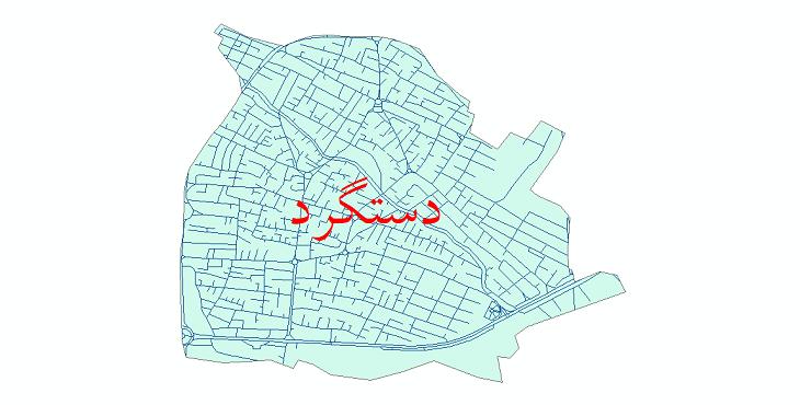 دانلود نقشه شیپ فایل شبکه معابر شهر دستگرد سال 1399