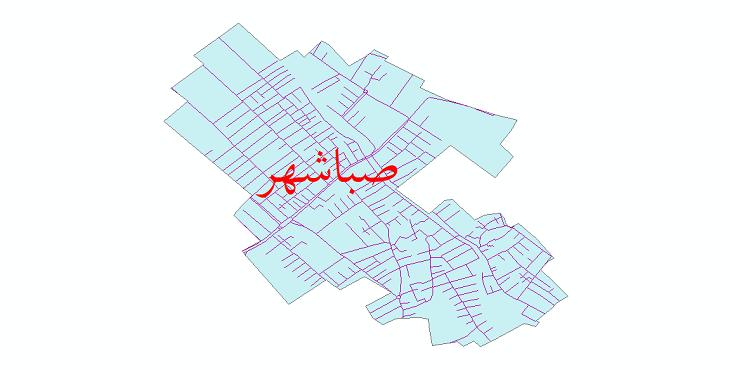 دانلود نقشه شیپ فایل شبکه معابر شهر صباشهر سال 1399