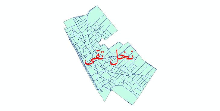 دانلود نقشه شیپ فایل شبکه معابر شهر نخل تقی سال 1399