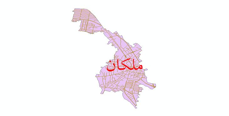 دانلود نقشه شیپ فایل شبکه معابر شهر ملکان سال 1399