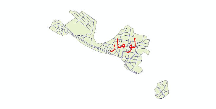 دانلود نقشه شیپ فایل شبکه معابر شهر لومار سال 1399