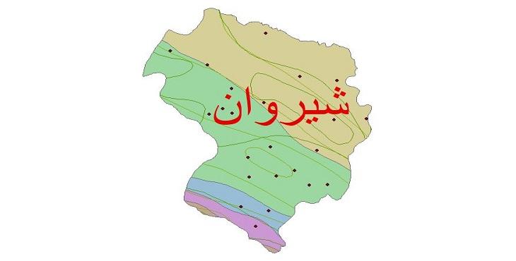 دانلود شیپ فایل اقلیمی شهرستان شیروان