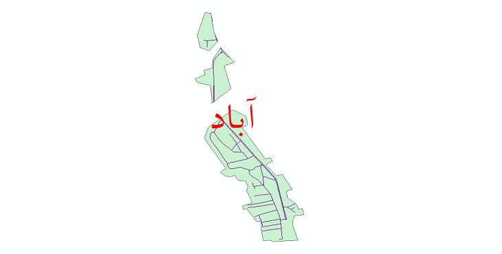 دانلود نقشه شیپ فایل شبکه معابر شهر آباد سال 1399