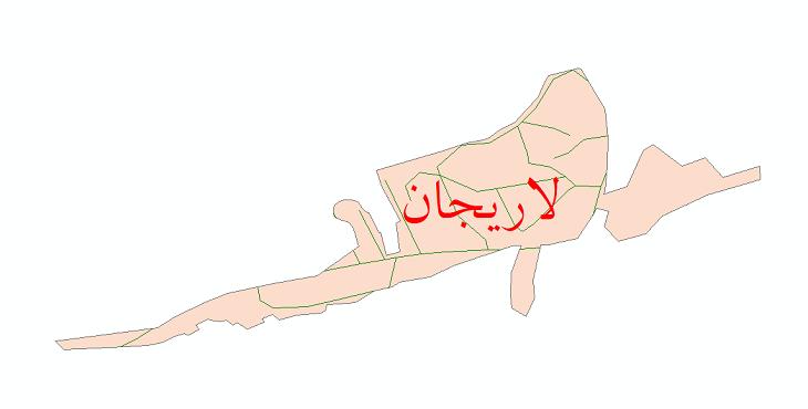 دانلود نقشه شیپ فایل شبکه معابر شهر لاریجان سال 1399