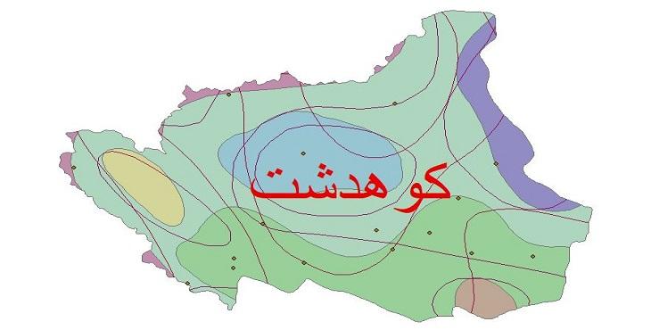دانلود شیپ فایل اقلیمی شهرستان کوهدشت