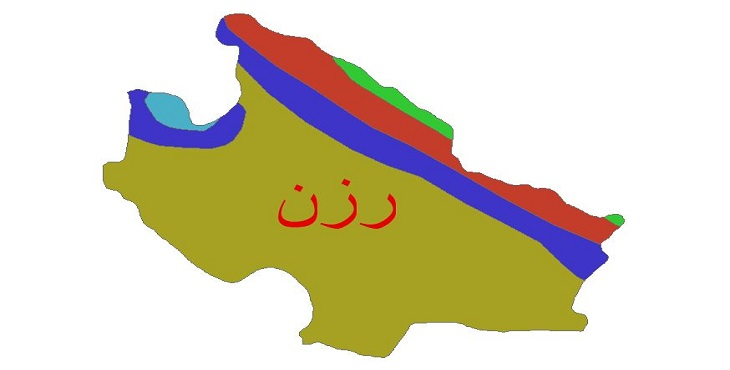 دانلود شیپ فایل اقلیمی شهرستان رزن