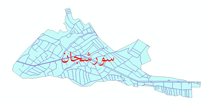 دانلود نقشه شیپ فایل شبکه معابر شهر سورشجان سال 1399