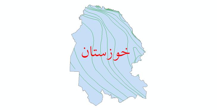 دانلود نقشه شیپ فایل خطوط هم تبخیر استان خوزستان