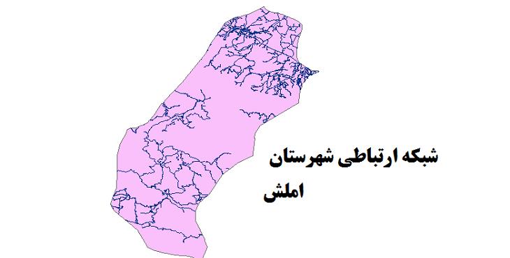 شیپ فایل شبکه راههای شهرستان املش 1399