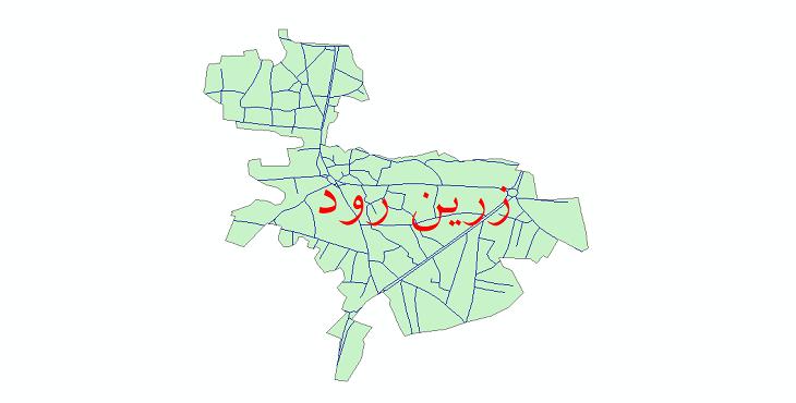 دانلود نقشه شیپ فایل شبکه معابر شهر زرین رود سال 1399
