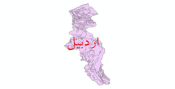 دانلود نقشه شیپ فایل زمینشناسی استان اردبیل