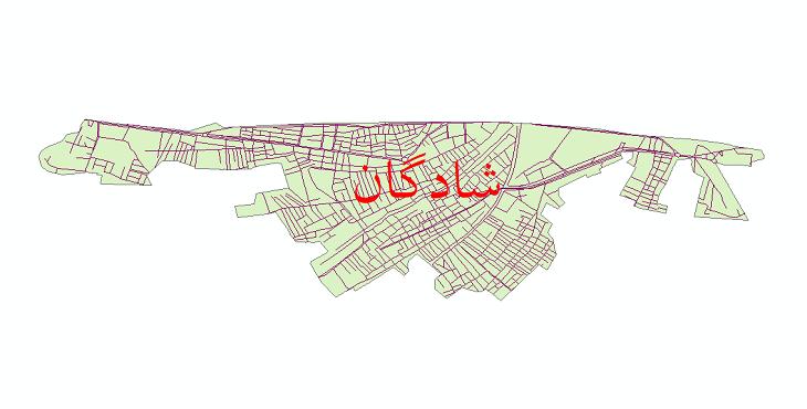 دانلود نقشه شیپ فایل شبکه معابر شهر شادگان سال 1399