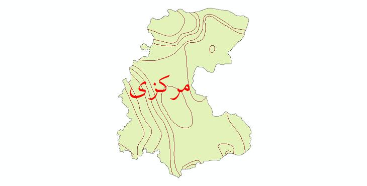 دانلود نقشه شیپ فایل خطوط هم تبخیر استان مرکزی