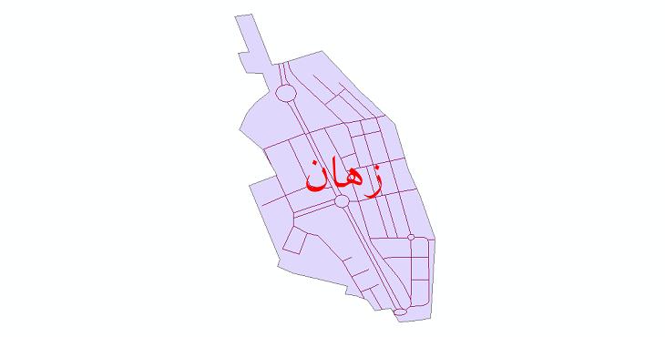 دانلود نقشه شیپ فایل شبکه معابر شهر زهان سال 1399