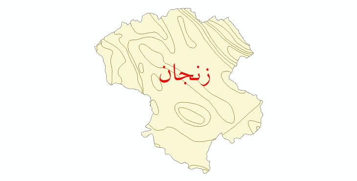 دانلود نقشه شیپ فایل خطوط هم دما استان زنجان