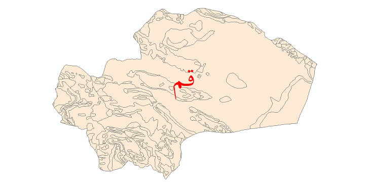 دانلود نقشه شیپ فایل زمینشناسی استان قم