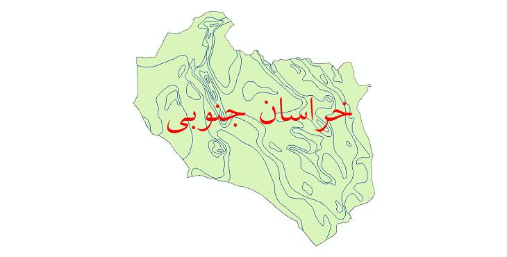 دانلود نقشه شیپ فایل خطوط هم تبخیر استان خراسان جنوبی