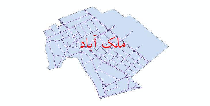 دانلود نقشه شیپ فایل شبکه معابر شهر ملک آباد سال 1399
