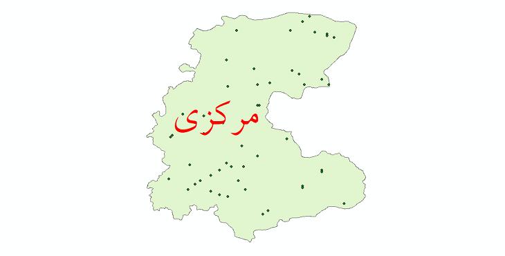 دانلود نقشه شیپ فایل ایستگاه های هواشناسی و نقاط باران سنجی استان مرکزی