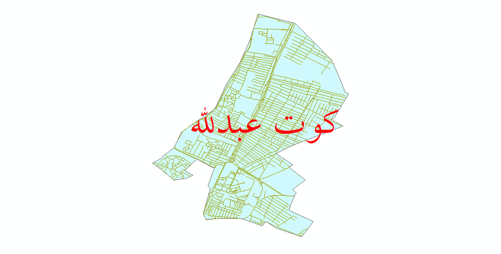 دانلود نقشه شیپ فایل شبکه معابر شهر کوت عبدلله سال 1399