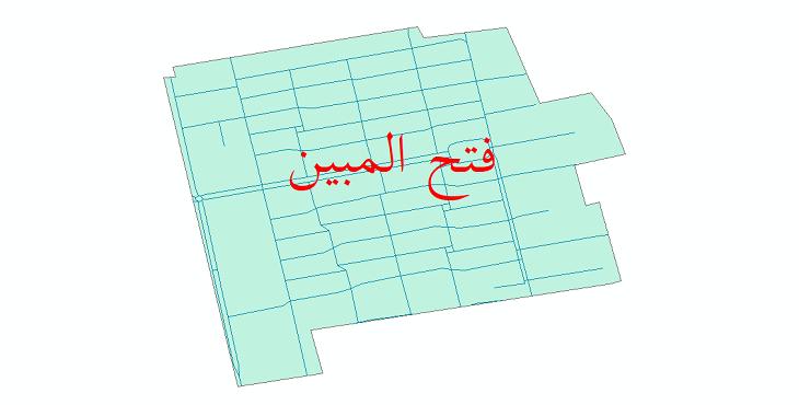 دانلود نقشه شیپ فایل شبکه معابر شهر فتح المبین سال 1399