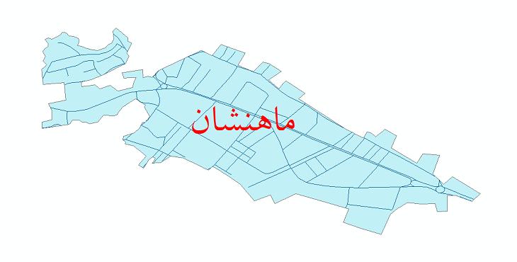 دانلود نقشه شیپ فایل شبکه معابر شهر ماهنشان سال 1399