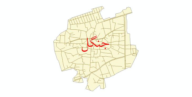 دانلود نقشه شیپ فایل شبکه معابر شهر جنگل سال 1399