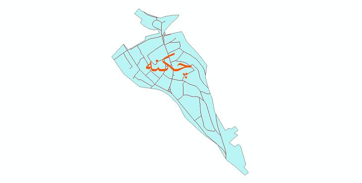 دانلود نقشه شیپ فایل شبکه معابر شهر چکنه سال 1399