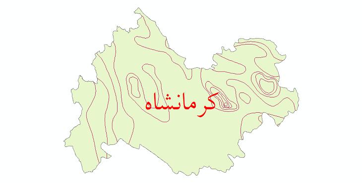 دانلود نقشه شیپ فایل خطوط هم دما استان کرمانشاه