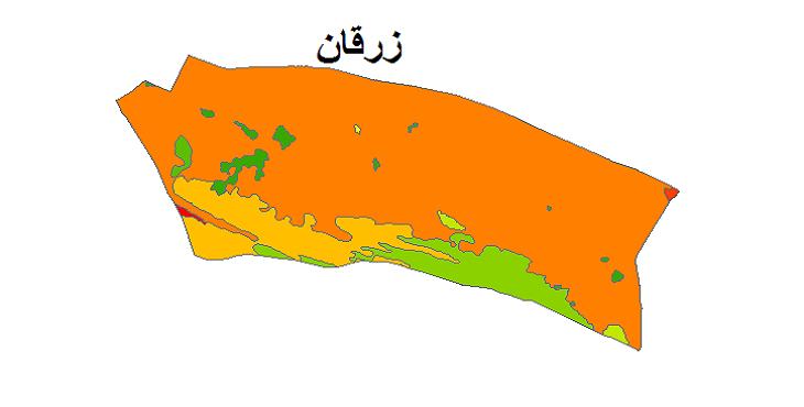 شیپ فایل کاربری اراضی شهرستان زرقان