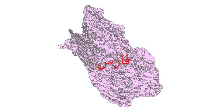 دانلود نقشه شیپ فایل کاربری اراضی استان فارس