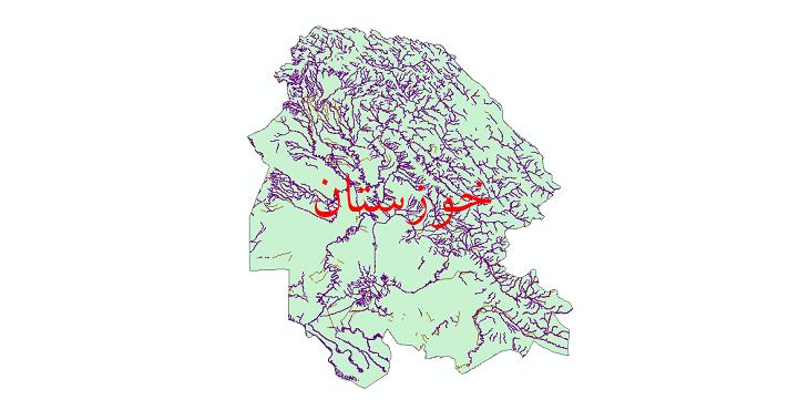 دانلود نقشه شیپ فایل رودخانه های استان خوزستان