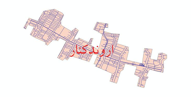 دانلود نقشه شیپ فایل شبکه معابر شهر اروندکنار سال 1399