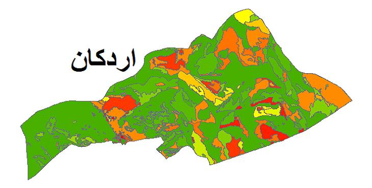 شیپ فایل کاربری اراضی شهرستان اردکان