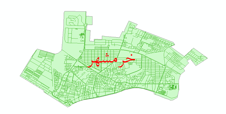 دانلود نقشه شیپ فایل شبکه معابر شهر خرمشهر سال 1399