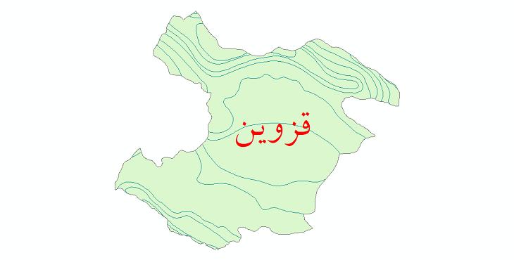 دانلود نقشه شیپ فایل خطوط هم دما استان قزوین