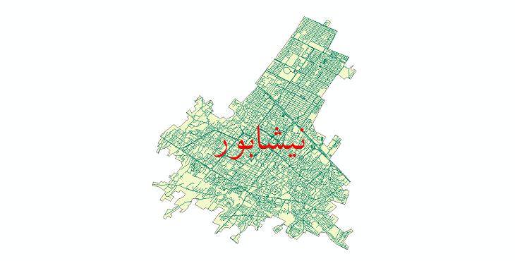 دانلود نقشه شیپ فایل شبکه معابر شهر نیشابور سال 1399