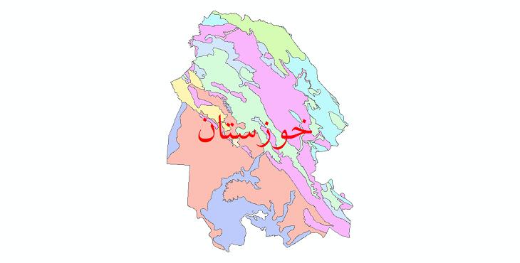 دانلود نقشه شیپ فایل خاک استان خوزستان