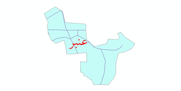 دانلود نقشه شیپ فایل شبکه معابر شهر عنبر سال 1399