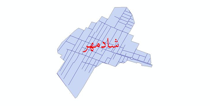 دانلود نقشه شیپ فایل شبکه معابر شهر شادمهر سال 1399