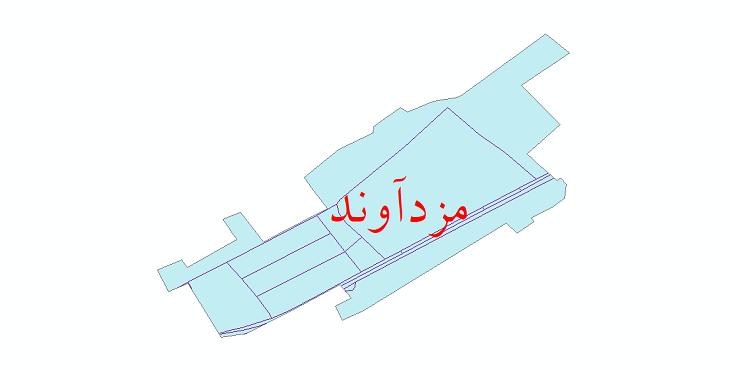 دانلود نقشه شیپ فایل شبکه معابر شهر مزدآوند سال 1399