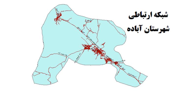 شیپ فایل شبکه راههای شهرستان آباده 1399