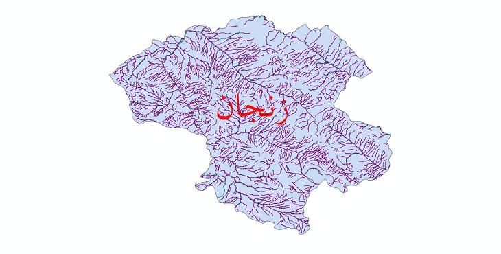 دانلود نقشه شیپ فایل رودخانه های استان زنجان
