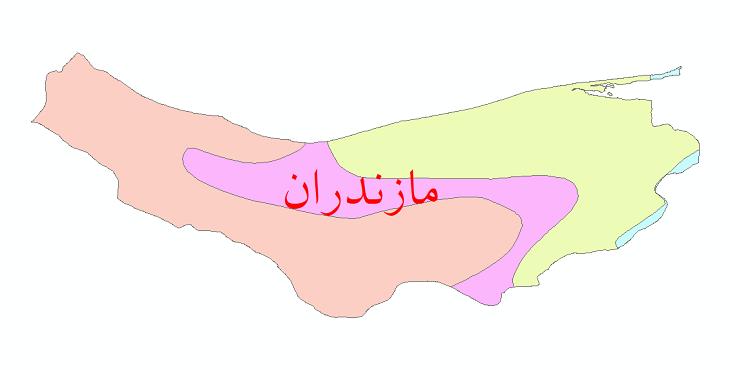 دانلود نقشه شیپ فایل طبقات اقلیمی استان مازندران