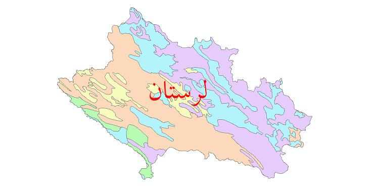 دانلود نقشه شیپ فایل خاک استان لرستان