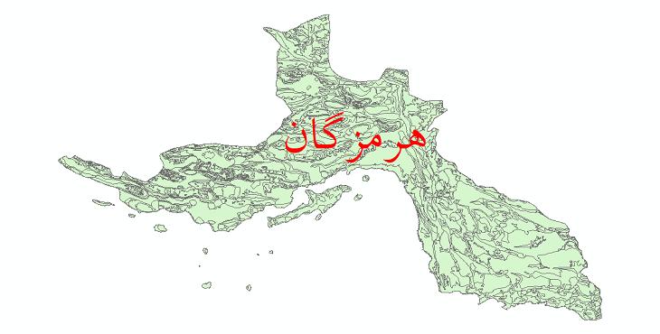 دانلود نقشه شیپ فایل زمینشناسی استان هرمزگان